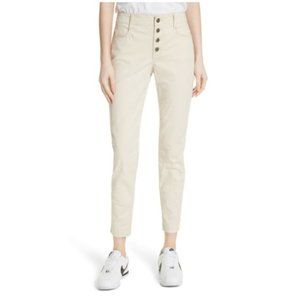 A.L.C. Owen Exposed Button Fly Lace Up Ankle Jeans
